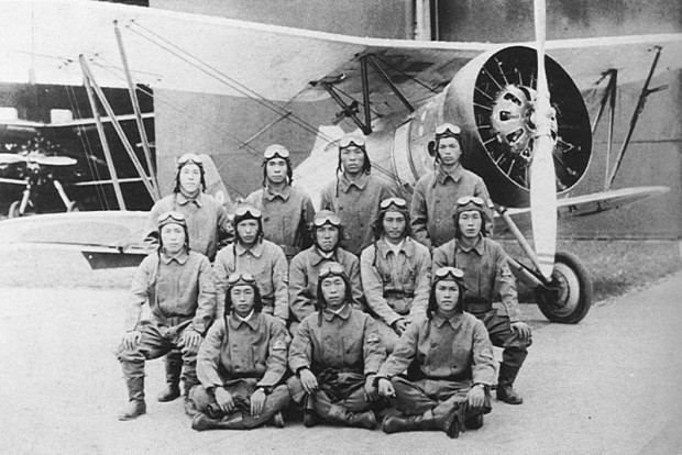 Imperial Japanese Navy student pilots 1935; Wikimedia Commons