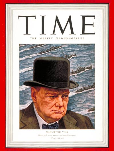 Jan 1941 Churchill Man of the year TIME