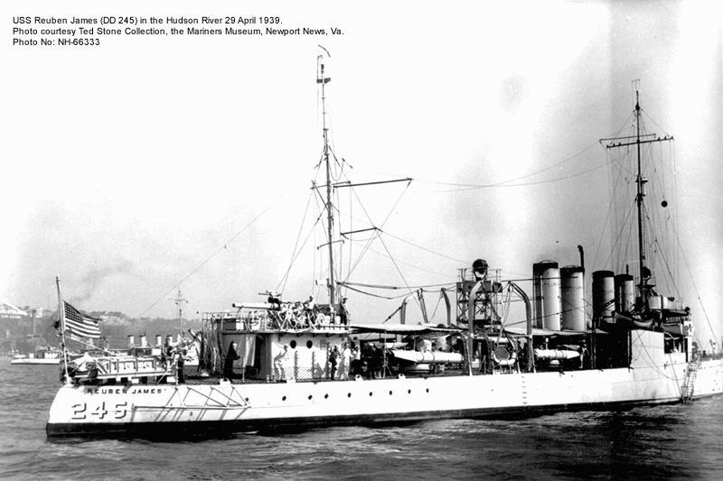 USS Reuben James Sunk