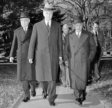 Ambassadors Hull, Nomura and Kurusu shortly before Pearl Harbor attack