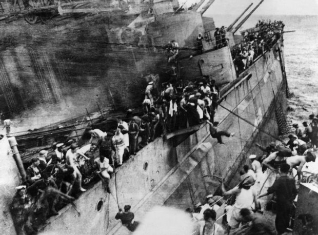 Escaping the Prince of wales Dec 10, 1941; Wikimedia Commons