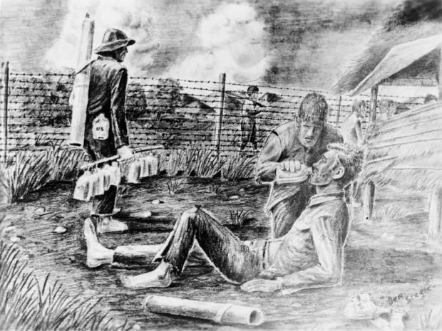 Cabanatuan prison camp; Wikimedia Commons