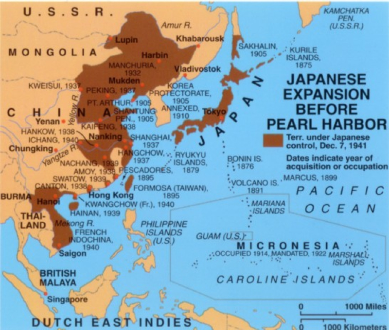 Map Of Imperial Japan Enemy In The Mirror - Japan map 7