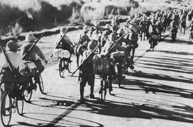 Japanese Bicycle-mounted Troops in the Philippines