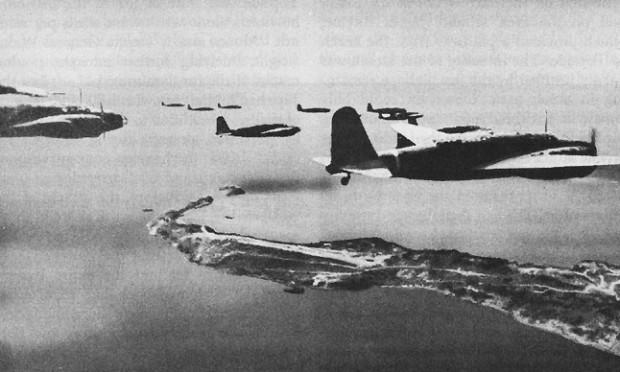 Japanese bombers; Wikimedia Commmons