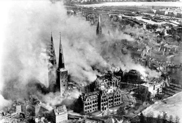 Bombing of Lübeck , Easter 1942; Wikimedia Commons
