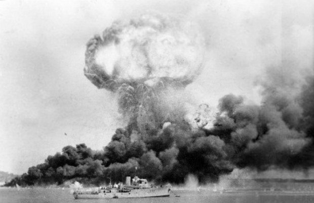 Attack on Darwin 1942; Wikimedia Commons