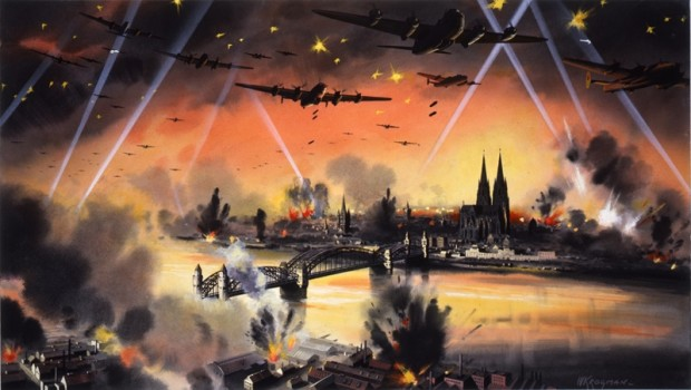Raid on Köln - May 1942; Wikimedia Commons