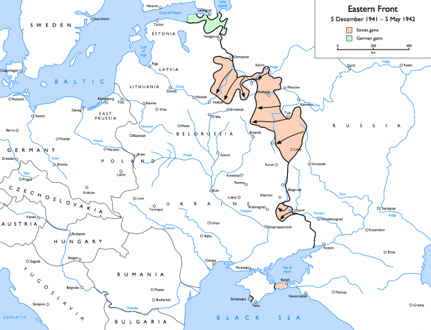Eastern front May 1942; Wikimedia Commons