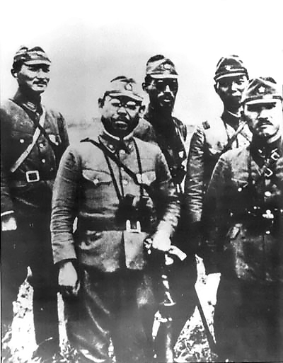 Japanese officers in Aleutians; Wikimedia Commons