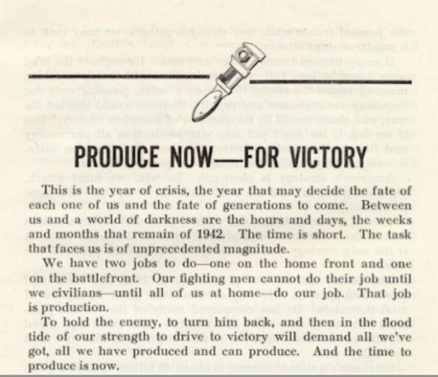 Produce for victory
