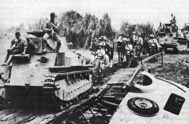 Japanese_light_tanks_moving_toward_Manila