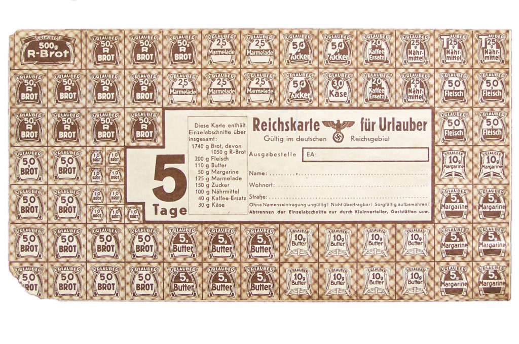 Food Rationing Germany