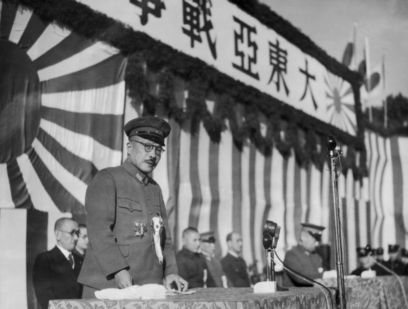 JAPAN - DECEMBER 08: On December 8Th 1942, General Hideki Tojo, Prime Minister Of The Japanese Empire, Gives A Speech For The First Anniversary Of The Beginning Of The Japanese Offensive On South-East Asia, Especially Indonesia And The Philippines. (Photo by Keystone-France/Gamma-Keystone via Getty Images)