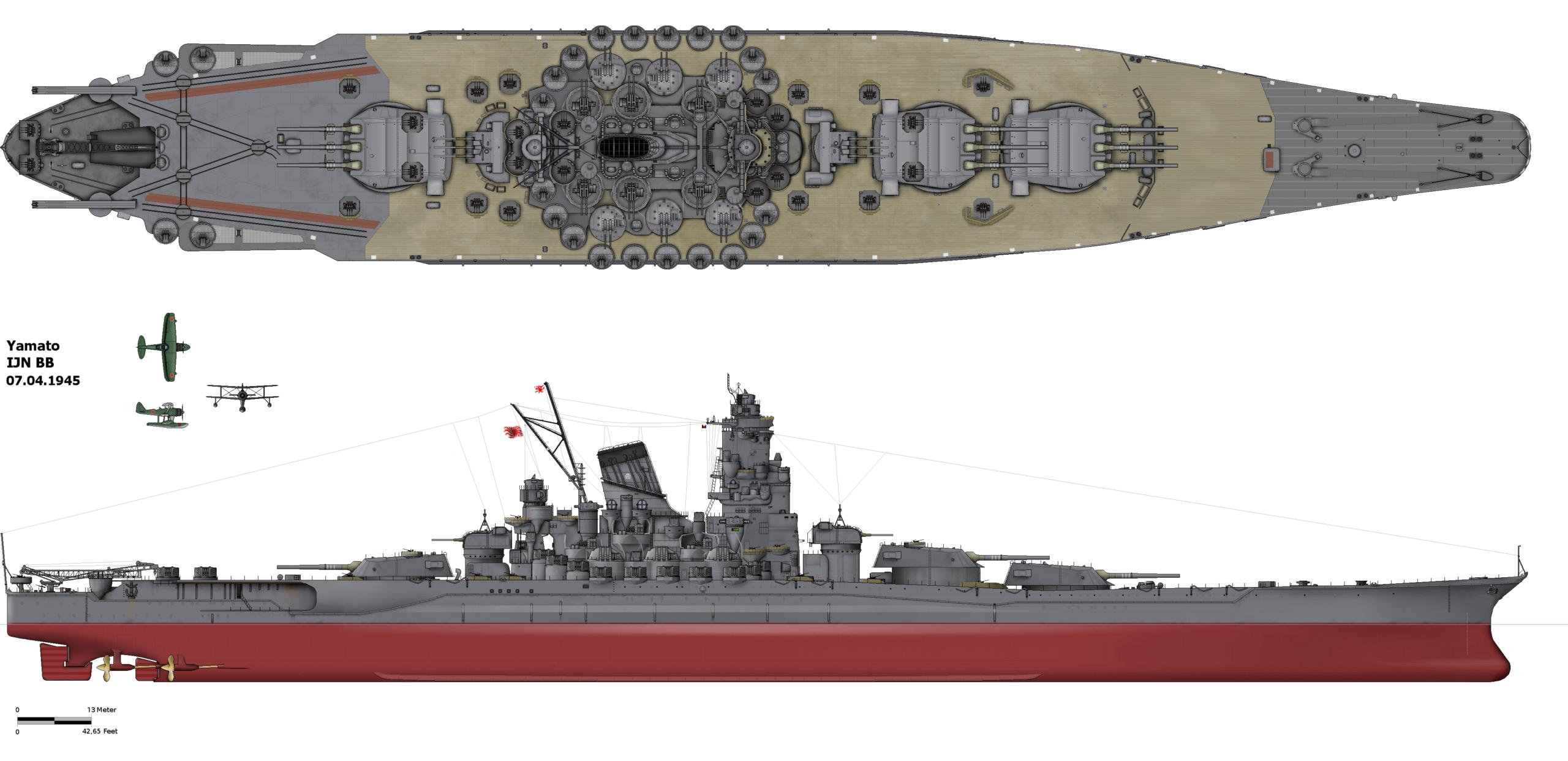 Yamato Sunk