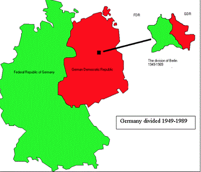 when east berlin was declared capital of the communist german democratic republic west berlin became a de facto part of the federal republic of germany