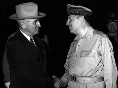 Truman & MacArthur on Wake Island