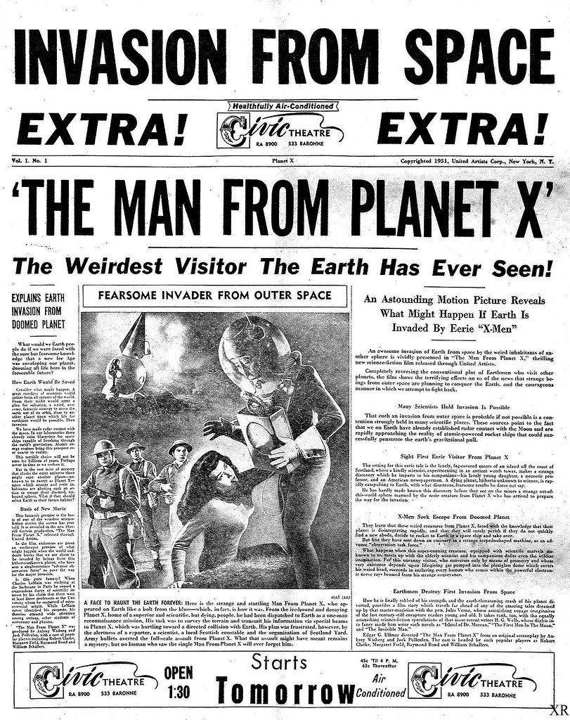 Man from Planet X, The Thing & Day the Earth Stood Still