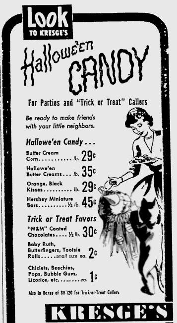 Halloween Trick or Treat 1951