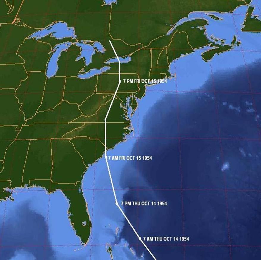 Hurricane Hazel Kills 348 in US & Canada
